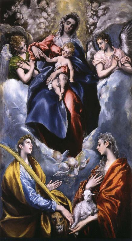El Greco Madonna and Child with St Martina and St Agnes