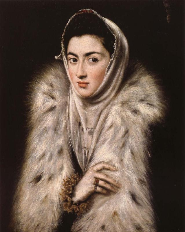 El Greco Lady in a fur wrap