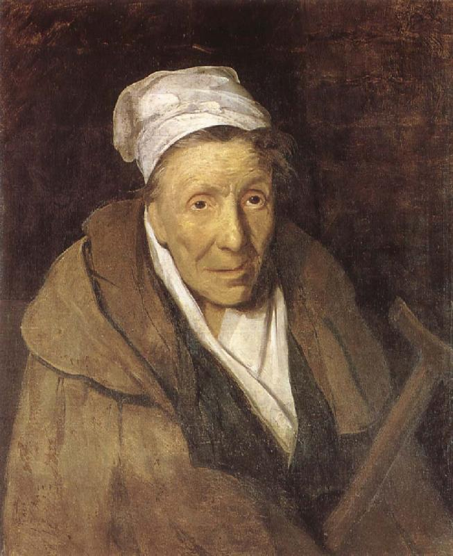 Theodore Gericault A woman with spelmani