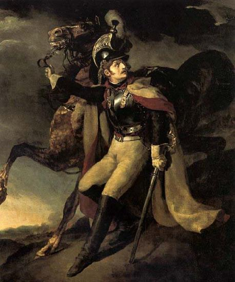 Theodore Gericault The Wounded Officer of the Imperial Guard Leaving the Battlefield