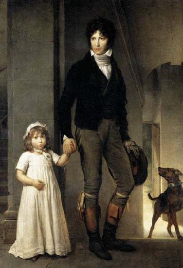 Theodore Gericault Jean-Baptist Isabey, Miniaturist, with his Daughter
