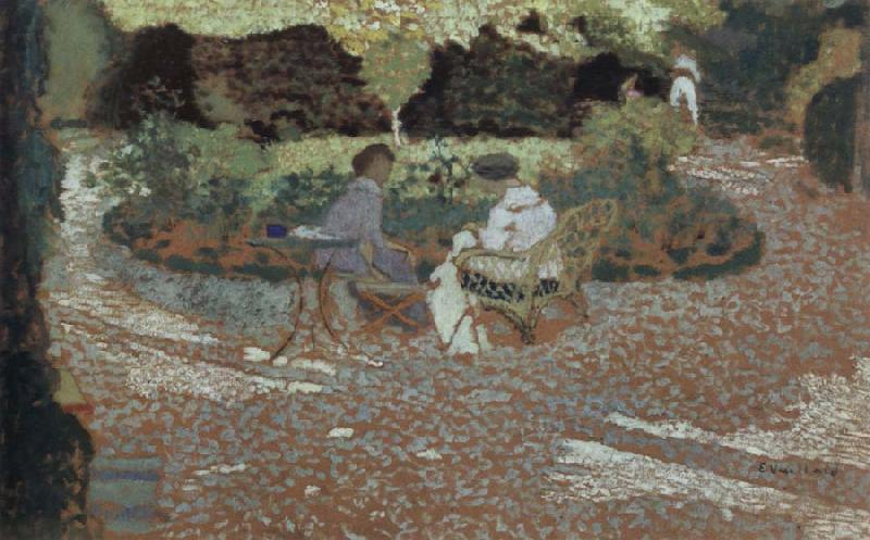 Edouard Vuillard in the garden