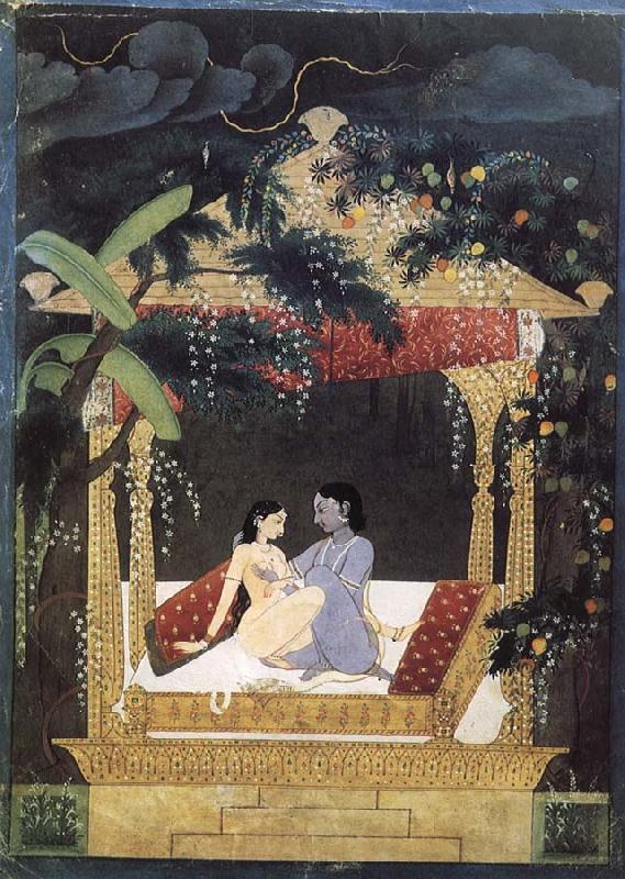 unknow artist Tingzhong of Krishna and Lade Ha