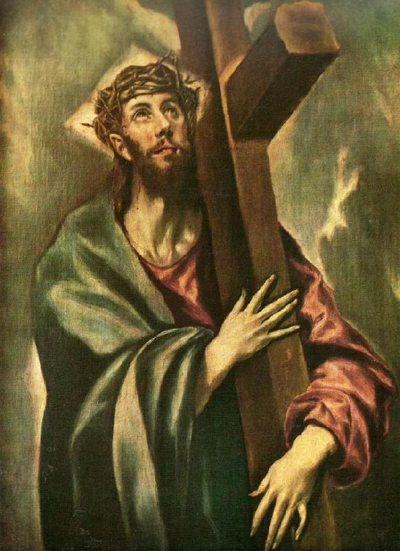 El Greco christ bearing the cross
