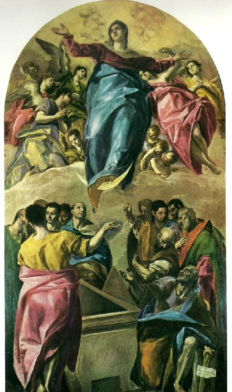 El Greco assumption of the virgin