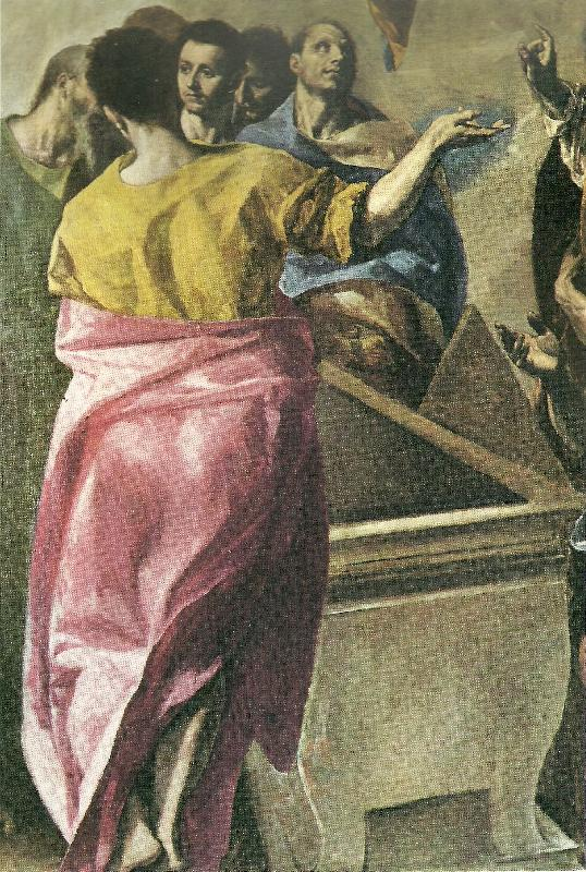 El Greco assumption of the virgin,detail