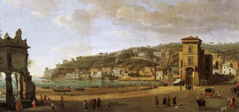 william shakespeare a painting showing the of the shoreline at naples