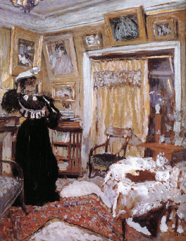 Edouard Vuillard Wear black clothes woman