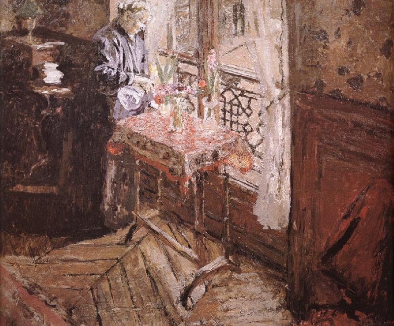 Edouard Vuillard Vial wife and hyacinth