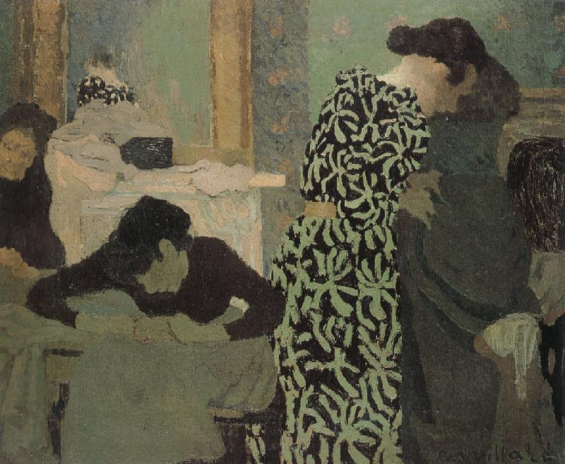 Edouard Vuillard Has a floral pattern for clothing