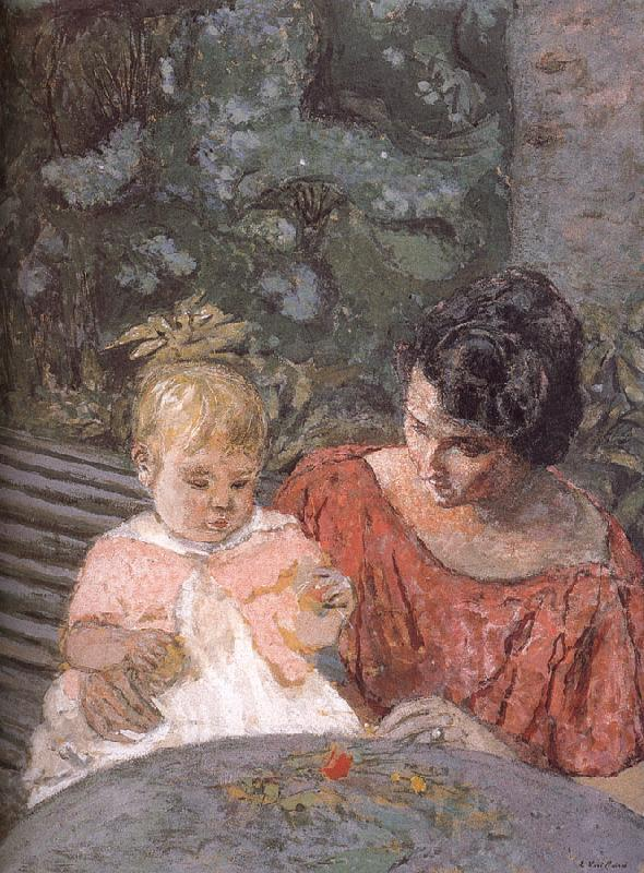 Edouard Vuillard Di tested pu lady and her son