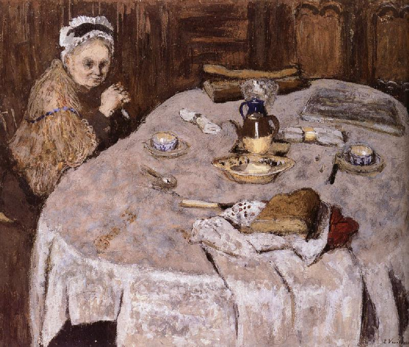 Edouard Vuillard Vial wife's breakfast
