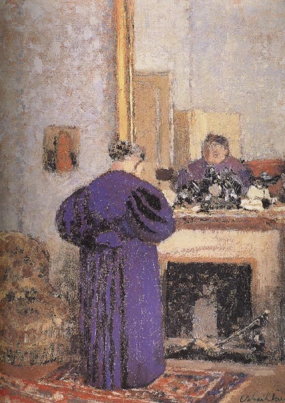 Edouard Vuillard In front of the fireplace vuillard mother