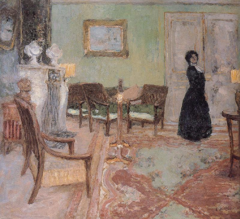 Edouard Vuillard The woman standing in the living room