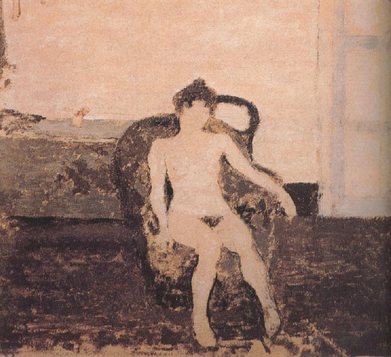 Edouard Vuillard In the armchair naked female