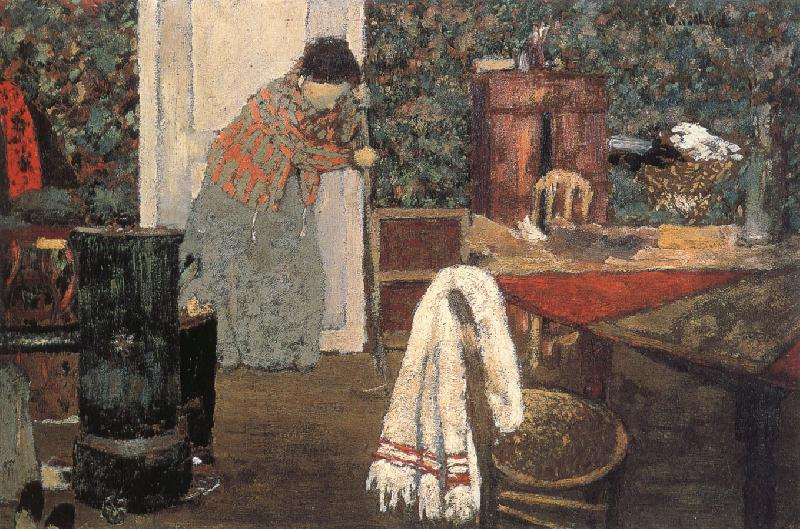 Edouard Vuillard Maid cleaning the room