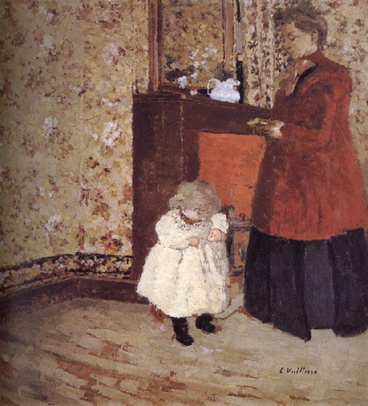 Edouard Vuillard Wife and children