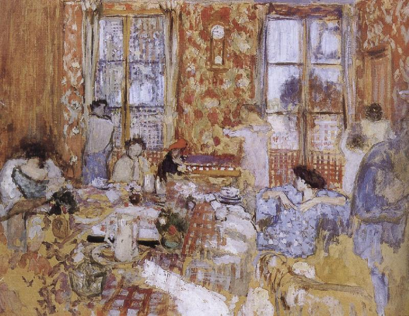 Edouard Vuillard Naked girls sitting on the sofa