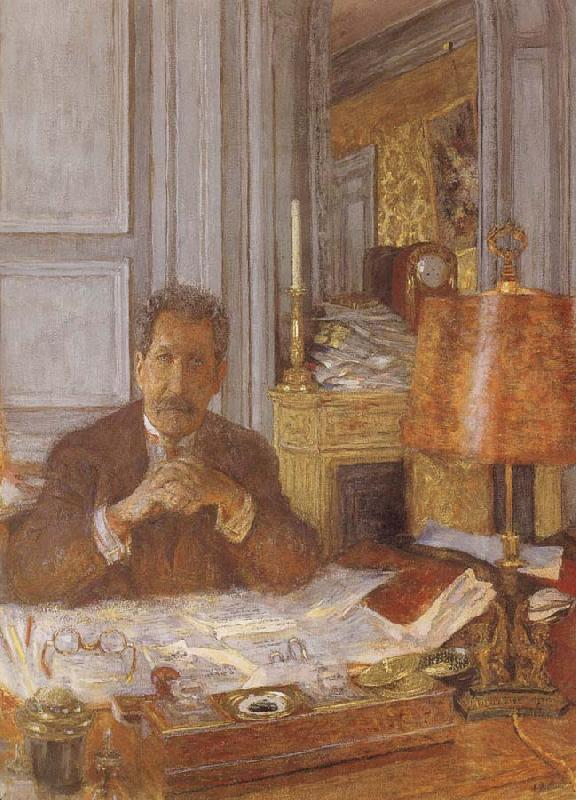 Edouard Vuillard Opal harp in his office
