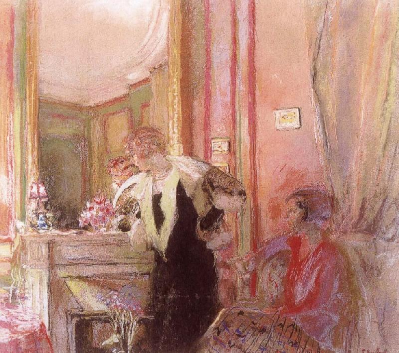 Edouard Vuillard Before the fireplace