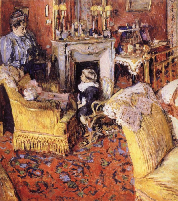 Edouard Vuillard Moruisifu and her son