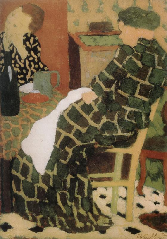 Edouard Vuillard Table of the mother and daughter