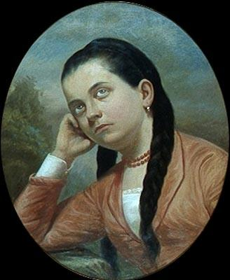 Almeida Junior Portrait of a young woman
