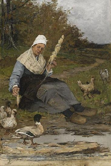 Anna Nordgren Farmer Woman At The Beach