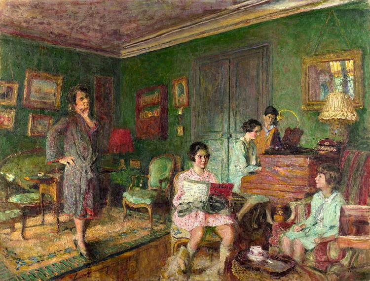 Edouard Vuillard Madame Andre Wormser and her Children