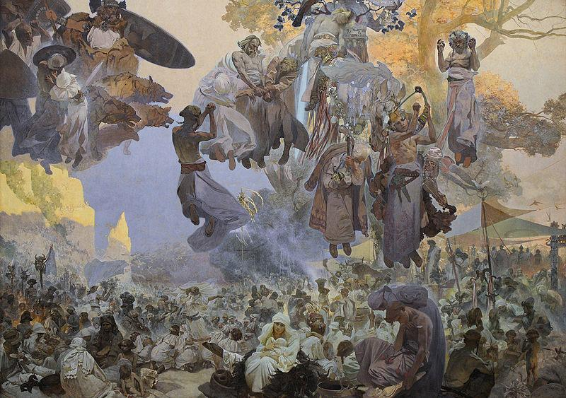 Alfons Mucha The Celebration of Svantovit: When Gods Are at War, Salvation is in the Art