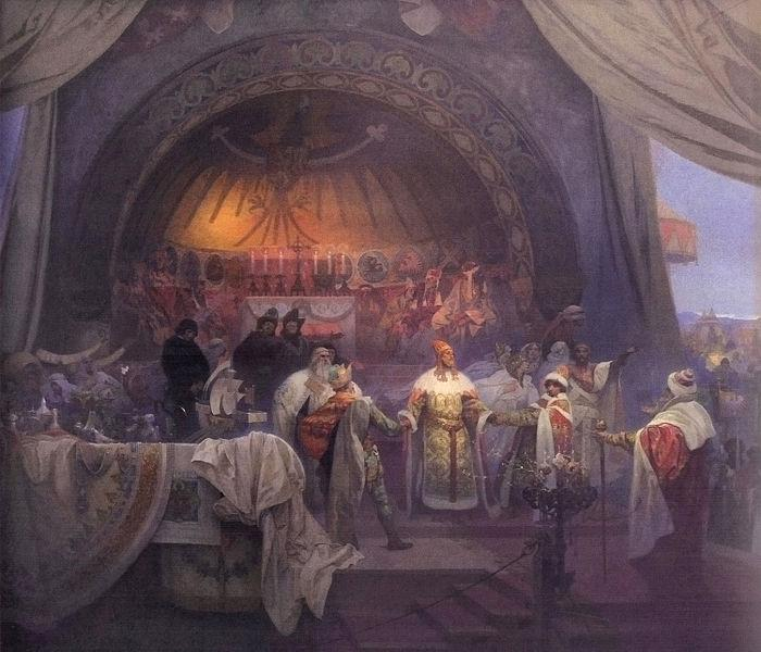 Alfons Mucha The Union of Slavic Dynasties