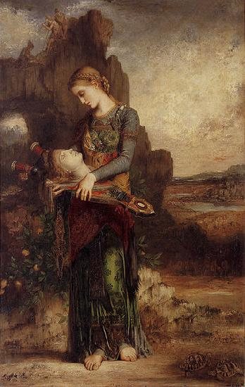 Gustave Moreau Thracian Girl Carrying the Head of Orpheus on His Lyre