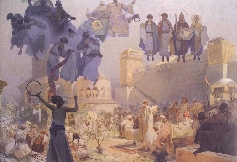 Alfons Mucha Slavs in their Original Homeland: Between the Turanian Whip and the sword of the Goths