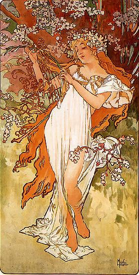 Alfons Mucha Spring