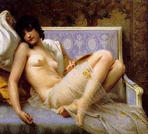 Guillaume Seignac Young-woman-on-a-settee