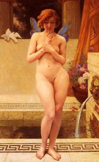 Guillaume Seignac Nymph at the Fountain