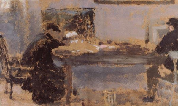Edouard Vuillard Detail of In a Room
