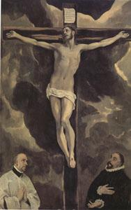 El Greco Christ on the Cross Adored by Two Donors (mk05)