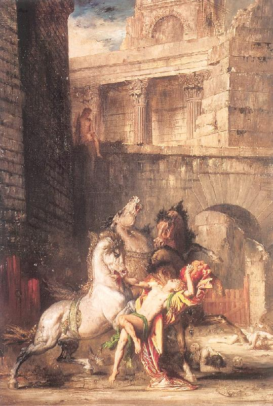 Gustave Moreau Diomedes Devoured by his Horses