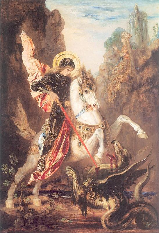 Gustave Moreau Saint George and the Dragon