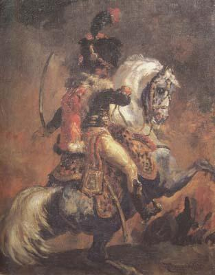 Theodore Gericault Chasseur of the Imperial Guard,Charging (mk10