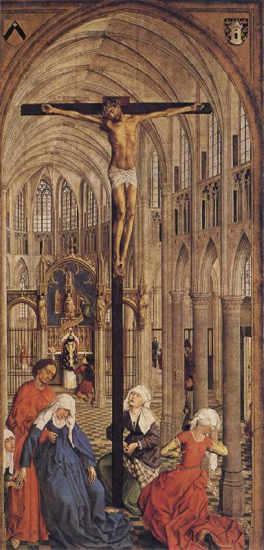Roger Van Der Weyden Crucifixion in a Church